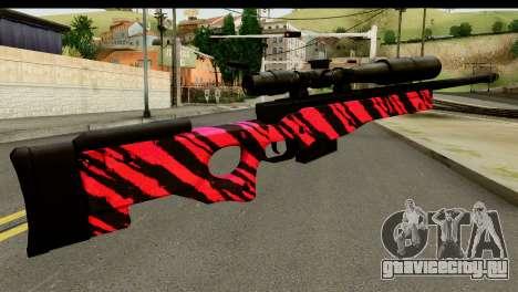 Red Tiger Sniper Rifle для GTA San Andreas второй скриншот