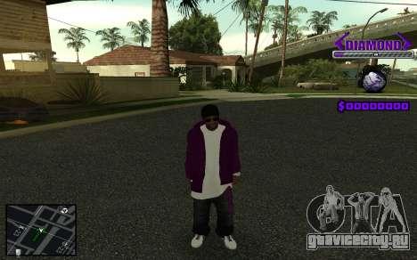 C-HUD Diamond Gangster для GTA San Andreas восьмой скриншот