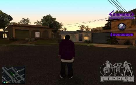 C-HUD Diamond Gangster для GTA San Andreas шестой скриншот