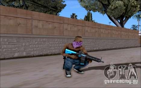 Blueline gun pack для gta san andreas четвёртый