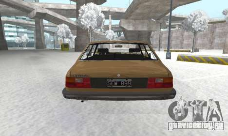 Renault 18 для GTA San Andreas вид сзади