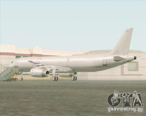 Airbus A321-200 Royal New Zealand Air Force для GTA San Andreas вид сзади слева