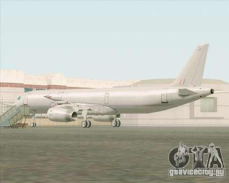 Airbus A321-200 Royal New Zealand Air Force для GTA San Andreas вид сзади слева