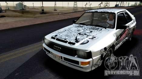 Audi Sport Quattro B2 (Typ 85Q) 1983 [HQLM] для GTA San Andreas вид сверху