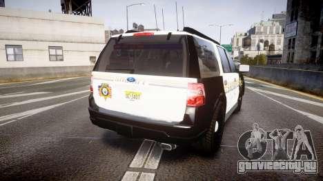 Ford Expedition 2010 Sheriff [ELS] для GTA 4 вид сзади слева