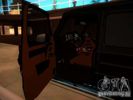 Mercedes-Benz G500 Bluetec 2014 для GTA San Andreas вид изнутри