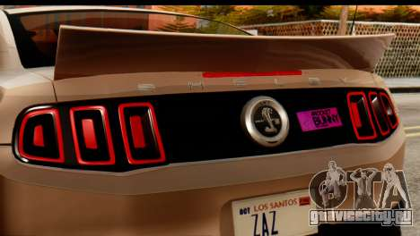 Ford Shelby GT500 RocketBunny для GTA San Andreas вид сзади слева