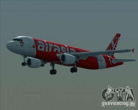 Airbus A320-200 Indonesia AirAsia для GTA San Andreas вид сверху