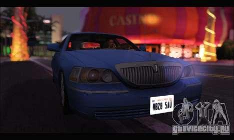 Lincoln Towncar (IVF) для GTA San Andreas вид сзади слева