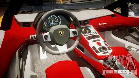 Lamborghini Aventador 2012 [EPM] Hankook Orange для GTA 4 вид изнутри