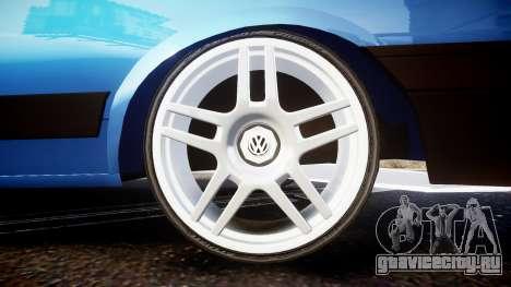 Volkswagen Voyage 1990 для GTA 4 вид сзади