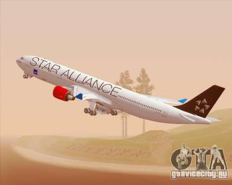 Airbus A330-300 SAS Star Alliance Livery для GTA San Andreas вид изнутри