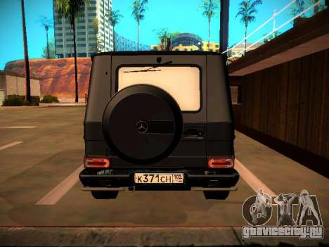 Mercedes-Benz G500 Bluetec 2014 для GTA San Andreas вид сзади