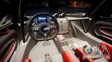 Pagani Zonda Revolution 2013 для GTA 4 вид сбоку