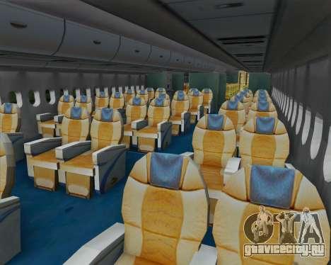 Airbus A380-800 F-WWDD Not Painted для GTA San Andreas вид изнутри