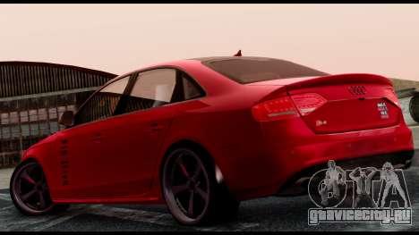 Audi S4 2010 Blacktop для GTA San Andreas вид слева