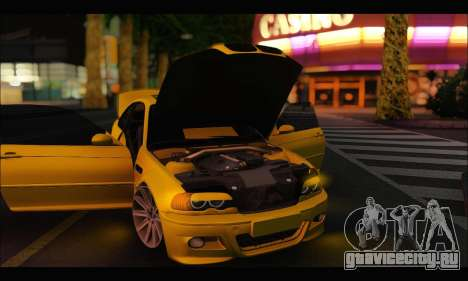 BMW M3 Coupe Tuned для GTA San Andreas вид сзади