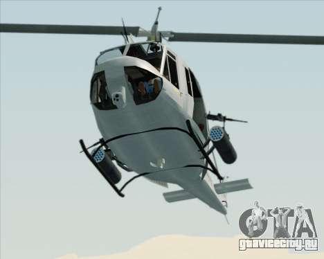 Bell UH-1N Huey USMC для GTA San Andreas вид изнутри