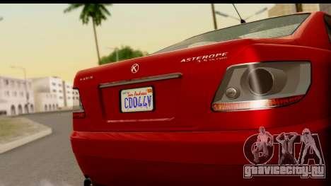 GTA 5 Karin Asterope для GTA San Andreas вид сзади слева