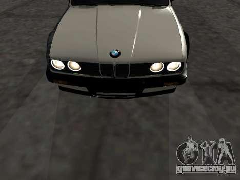 BMW M3 E30 Drift для GTA San Andreas вид изнутри