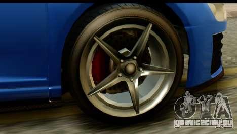 GTA 5 Obey 9F Coupe IVF для GTA San Andreas вид сзади