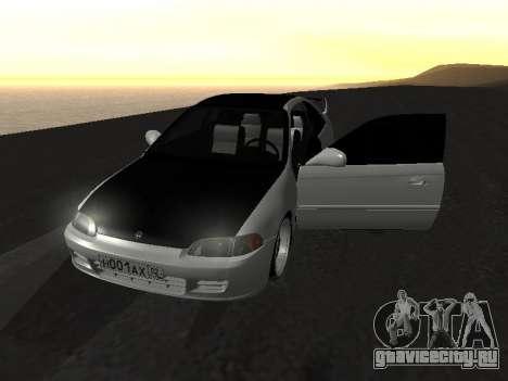 Honda Civic для GTA San Andreas вид сбоку
