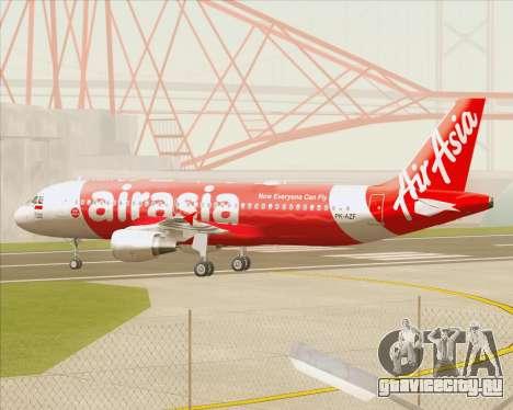 Airbus A320-200 Indonesia AirAsia для GTA San Andreas вид изнутри
