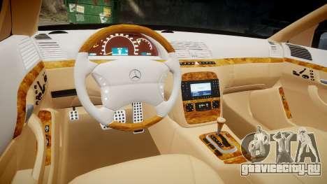 Mercedes-Benz S600 W220 для GTA 4 вид сбоку