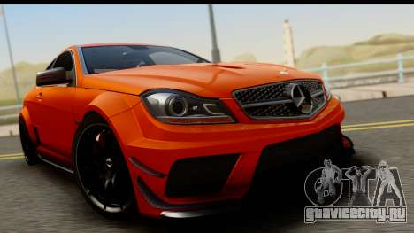 Mercedes-Benz C63 AMG 2012 Black Series для GTA San Andreas