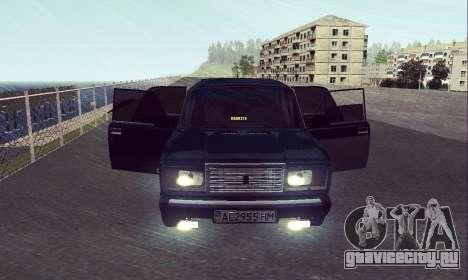 ВАЗ 2107 Seven-ty для GTA San Andreas вид справа