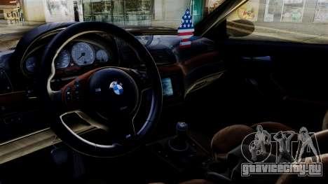 BMW M3 E46 Sport PG для GTA San Andreas вид сзади слева