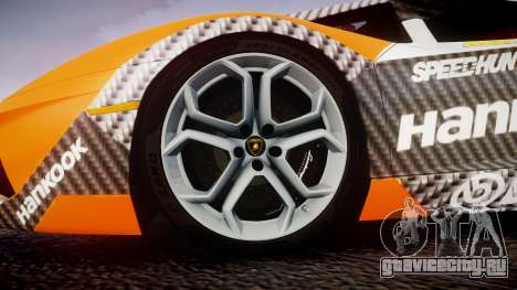 Lamborghini Aventador 2012 [EPM] Hankook Orange для GTA 4 вид сзади
