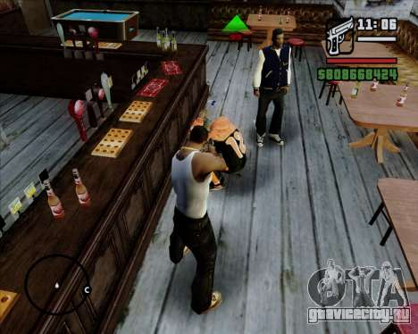 Цифровой показатель жизни противников для GTA San Andreas четвёртый скриншот
