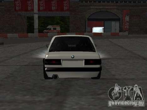 BMW M3 E30 Drift для GTA San Andreas вид сзади