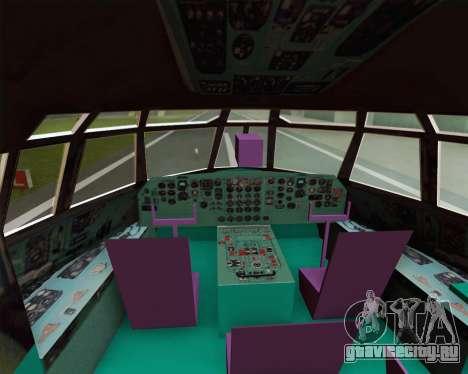 ИЛ-76ТД Газпром авиа для GTA San Andreas вид сбоку