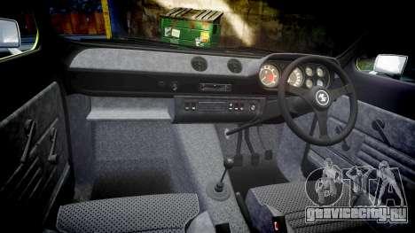 Ford Escort RS1600 PJ44 для GTA 4 вид изнутри