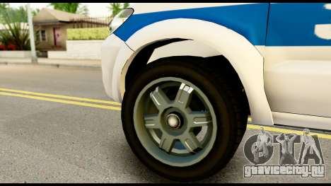 Toyota Hilux Georgia Police для GTA San Andreas вид сзади слева