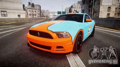 Ford Mustang Boss 302 2013 Gulf для GTA 4