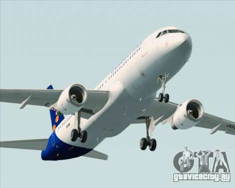 Airbus A320-200 Brussels Airlines для GTA San Andreas вид сверху
