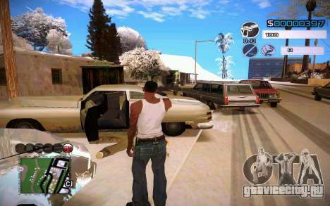 C-HUD by Jeremy Wilsher для GTA San Andreas второй скриншот