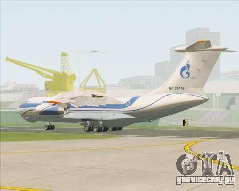 ИЛ-76ТД Газпром авиа для GTA San Andreas вид справа