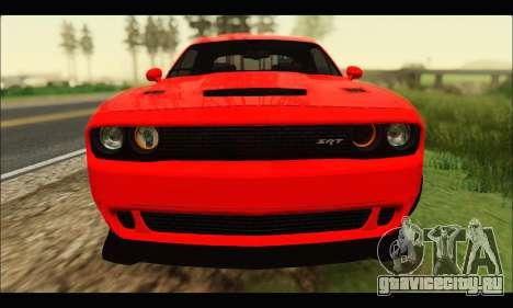 Dodge Challenger SRT HELLCAT 2015 для GTA San Andreas вид слева