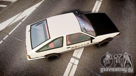 Toyota AE86 Tofu для GTA 4 вид справа