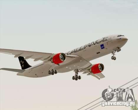 Airbus A330-300 SAS Star Alliance Livery для GTA San Andreas вид сзади слева