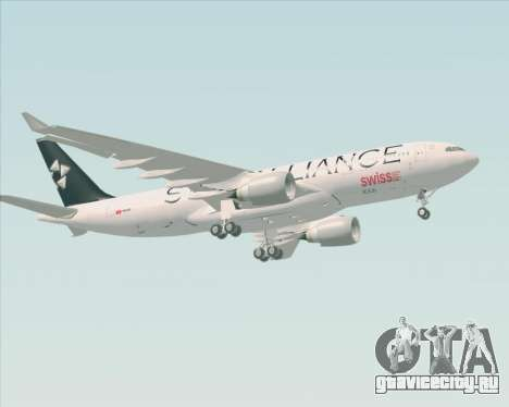 Airbus A330-200 SWISS (Star Alliance Livery) для GTA San Andreas вид сбоку