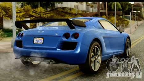 GTA 5 Obey 9F Coupe IVF для GTA San Andreas вид слева