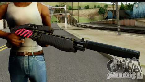 Red Tiger Combat Shotgun для GTA San Andreas третий скриншот
