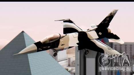 F-16 Aggressor Squadron Alaska Black Camo для GTA San Andreas вид сзади слева
