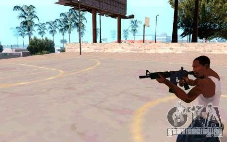 M4A1 (Dodgers) для GTA San Andreas четвёртый скриншот