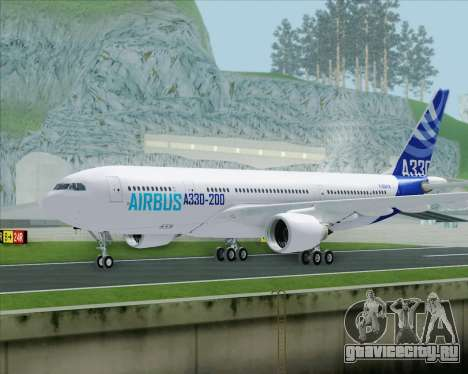 Airbus A330-200 Airbus S A S Livery для GTA San Andreas вид сзади слева